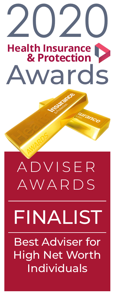 2020 Health and Protection Awards Finalist's logo - Best Adviser to High Net Worth Individuals