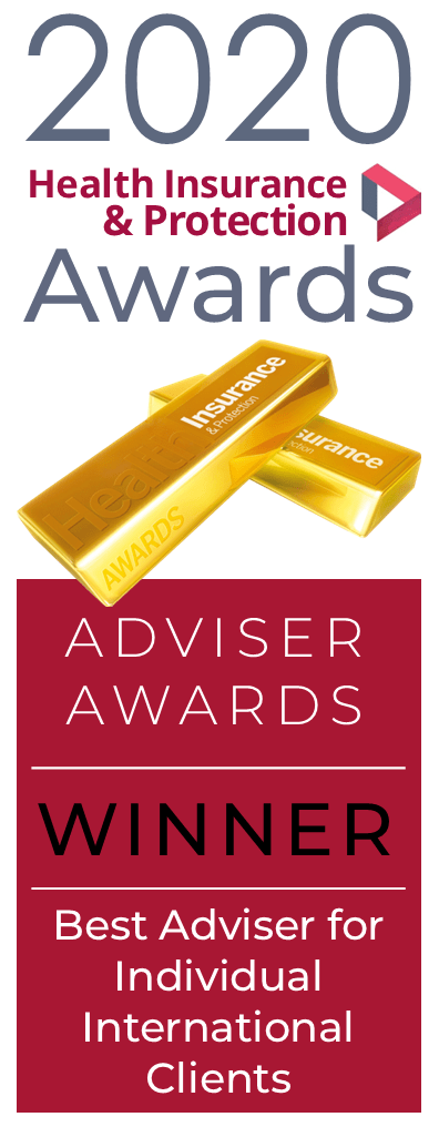 2020 Health and Protection Awards Winner's Logo - Best Adviser for Individual International Clients